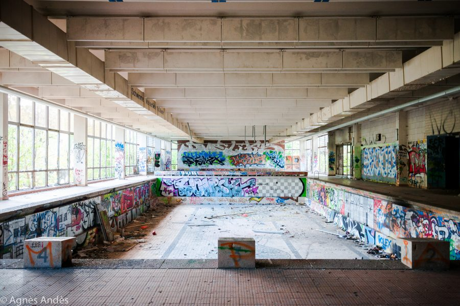 Abandoned swimming pool in Pankow