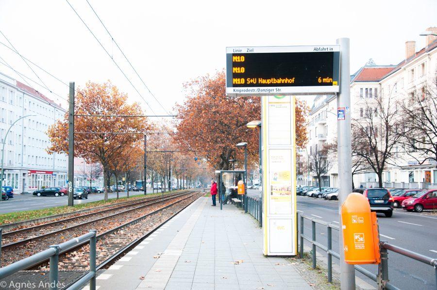 Tram in Danziger Straße