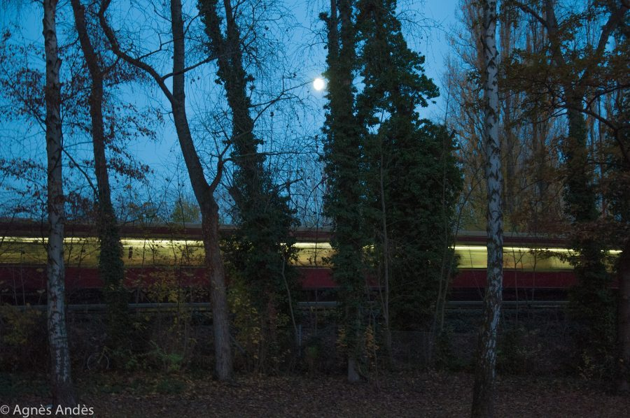 S-Bahn and the moon